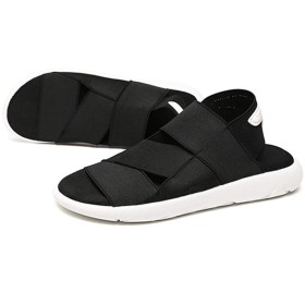[AWOR] ウォーキング サンダル メンズ スニーカー オフィス 紳士靴 カジュアルシューズ カラー 甲高 幅広 疲れにくい 25.0cm 男性 立ち仕事 仕事履き 通気性 黒 ビーチサンダル マジックタイプシューズ 夏靴 アウトドアサンダル 男性用