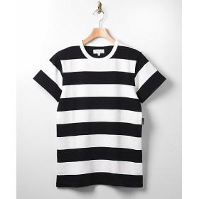 <アニエスベー オム/agnes b. HOMME> 太ボーダー半袖Tシャツ 1000・ブラック×ホワイト 【三越・伊勢丹/公式】