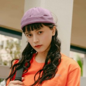 ロールキャップ つば無し帽子 フィッシャーマンキャップ レトロ コットン キャンバス 布 CAP キャップ 帽子 トレンド かわいい ナチュラ