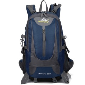 登山 リュック サック 30L 40L 防水 軽量 耐久性 旅行 アウトドア 登山用パック ザック バックパック レディース メンズ(深青)