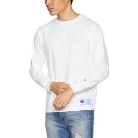 [チャンピオン] ビッグCロゴ ロングスリーブTシャツ アクションスタイル C3-L422 メンズ ホワイト 日本 XL (日本サイズXL相当)