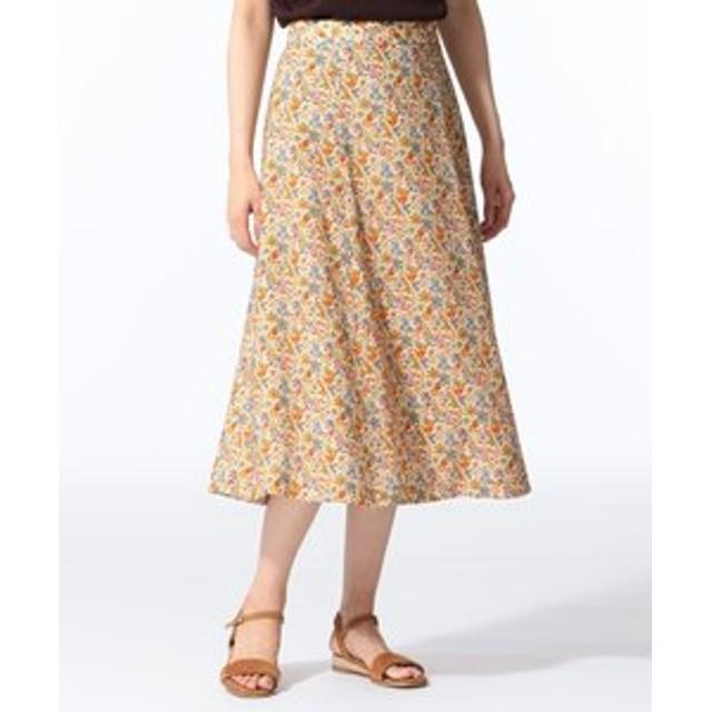【J.PRESS LADIES:スカート】【セットアップ対応】LIBERTY CHESTNUTS プリント スカート