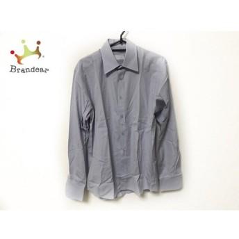 プラダ PRADA 長袖シャツ サイズ38 M メンズ 美品 ライトブルー×オレンジ×マルチ チェック柄 新着 20190809