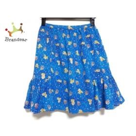 フランシュリッペ franchelippee スカート サイズM レディース 美品 ブルー×マルチ 花柄/犬  値下げ 20191013