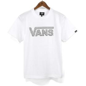 バンズ(VANS)Tシャツ VA19HS-MT12 Check Flying LOGO Classic Logo S/ST-Shirts クラシックロゴ チェックプリントTシャツ TEE (ホワイト, M)