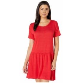 ボボウ Bobeau レディース ワンピース ワンピース・ドレス Pique Drop Waist Knit Dress Red