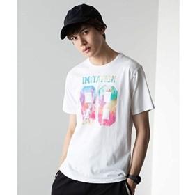 ウィゴー(メンズ)(WEGO) タイダイナンバリングTシャツ【ホワイト/S】