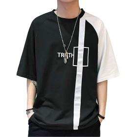Tシャツ ゆったり おしゃれ 春夏 ファション 人気 快適 カジュアル black 2XL