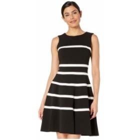 トミー ヒルフィガー Tommy Hilfiger レディース ワンピース ワンピース・ドレス Striped Swing Dress Black/Ivory