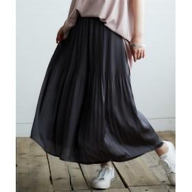 【ゆったりワンサイズ】ヴィンテージサテンプリーツスカーチョ (レディースパンツ),pants