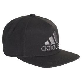 アディダス adidas ユニセックス 帽子 ロゴフラットキャップ EBZ97 CF4869 ブラック/ブラック/グレーフォアF17 【2018FW】