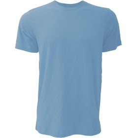 (キャンバス) Canvas ジャージー クルーネック 半袖Tシャツ 無地Tシャツ トップス 夏 定番 ユニセックス (S) (ヘザーコロンビアブルー)