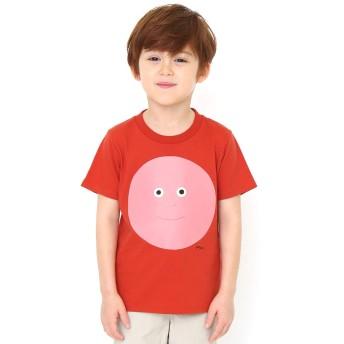 (グラニフ) graniph コラボレーション キッズ Tシャツ かおかおどんなかお (柳原良平) (トマト) キッズ 100 (g28) #おそろいコーデ