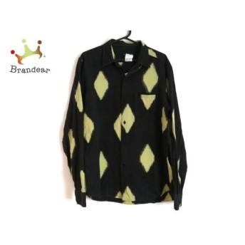 アニエスベー agnes b 長袖シャツ サイズ40 S メンズ 黒×ライトグリーン 新着 20190809