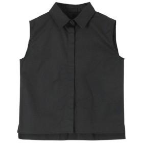 titivate ボックスシルエットノースリーブシャツ○ATXP2188 ブラック トップス