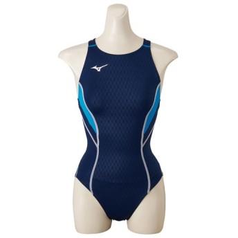 MIZUNO SHOP [ミズノ公式オンラインショップ] 競泳用ローカット(オープン)[レディース] 82 ネイビー×サックス N2MA8240