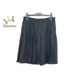 アンダーカバー スカート サイズ2 M レディース 美品 黒 異素材切替/プリーツ/シースルー 新着 20190809