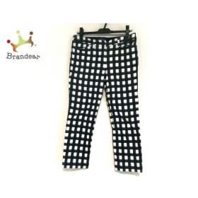 エムズグレイシー M'S GRACY パンツ サイズ38 M レディース 黒×白 チェック柄   スペシャル特価 20191119