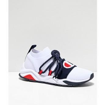チャンピオン CHAMPION メンズ スニーカー シューズ・靴 Champion Rally Pro Hype Lo White & Navy Shoes White