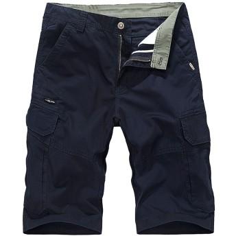 BANKIKU(バンキク) カーゴパンツ メンズ 作業着 半ズボン カーゴ 夏 ショートパンツ ポケット多い 綿パンツ チノバン カジュアル ワークパンツ アウトドア