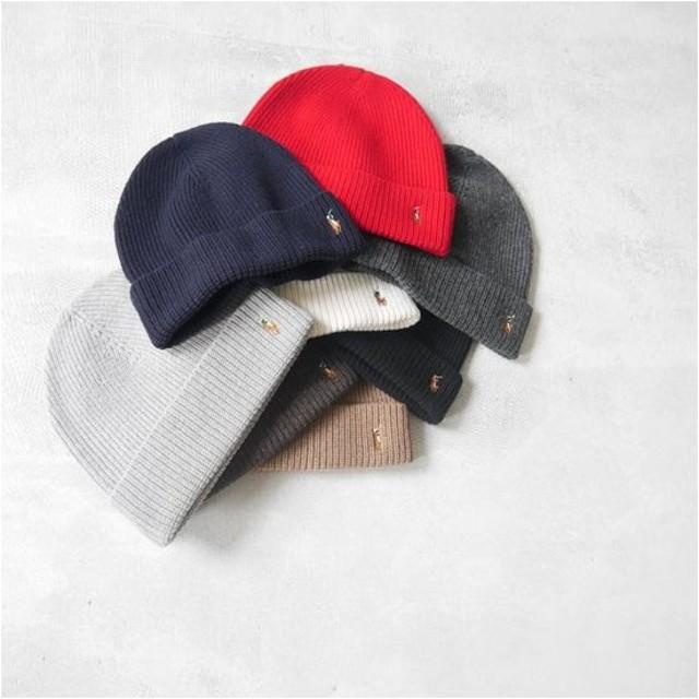 ラルフローレン POLO Ralph Lauren 6F0101 ニット帽 ニットキャップ ビーニー 帽子 無地 カラー メンズ レディース