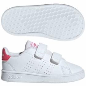 アディダス ベビー ADVANCOURT ランニングホワイト×リアルピンク×ランニングホワイト  adidas EF0300