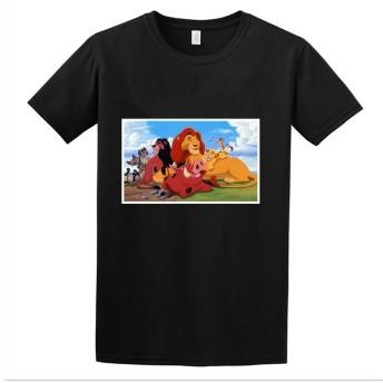 SMURAB アニメ 漫画 Disney ディズニー Lion King ライオンキング メンズ/レディース Tシャツ/夏服 スポーツ Tシャツ ブラック/半袖 Tシャ