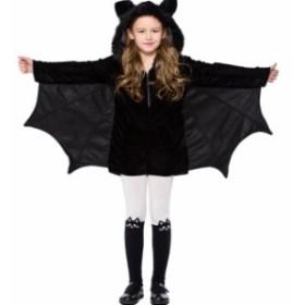 ハロウィンコスプレ コウモリ  子供 女の子 悪魔 魔女 小悪魔 ハロウィン 仮装 仮装衣装 コスプレコスチューム♪子供用  コウモリ 子供