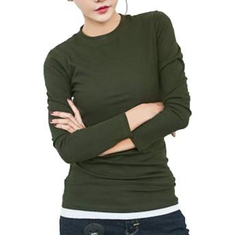 Heaven Days(ヘブンデイズ) ロンティー 長袖 Tシャツ カットソー ロンT ロングTシャツ クルーネック 無地 レディース 1809C0185