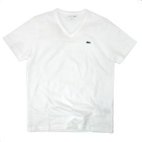 LACOSTE ラコステ メンズ ベーシックVネックTシャツ[TH632EM] L(サイズ4) 001 ホワイト