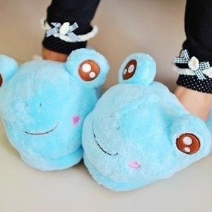 美麗大街【S101122003】可愛青蛙造型室內拖鞋