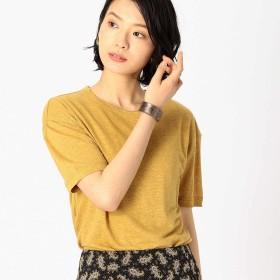 (コムサ イズム) COMME CA ISM フレンチリネン Tシャツ 12-60TL29-109 S マスタード