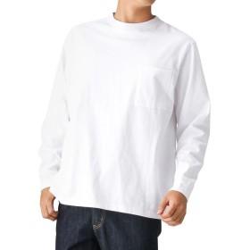 GOODWEAR ポケリブ付きレギュラー長袖Tシャツ ロングTシャツ トレーナー 長袖 2W7-8518 メンズ ホワイト:M