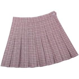 Romancly レディースAライン格子縞学校ユニフォームミニ党プリーツスカート Eight M