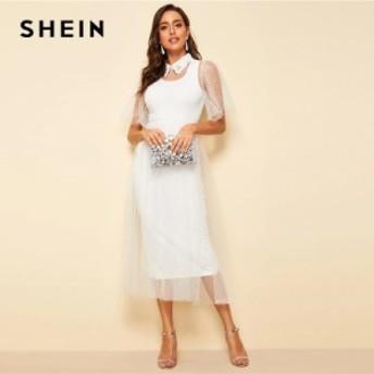 [特別TOPS×送料無料]白色 サマードレス 刺繍 半袖 フレア エレガント パーティードレス キャバドレス トップス