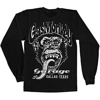 Officially Licensed Merchandise Gas Monkey Garage - Dallas Texsas Long Sleeve Tee (Black), Medium