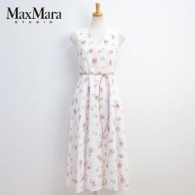 2018年春夏 マックスマーラ ステュディオ MaxMara Studio ノースリーブ ワンピース ホワイト(BOUQUET 62211181 WH 001)