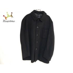 アルマーニコレッツォーニ ARMANICOLLEZIONI コート メンズ 美品 黒 冬物  値下げ 20191011
