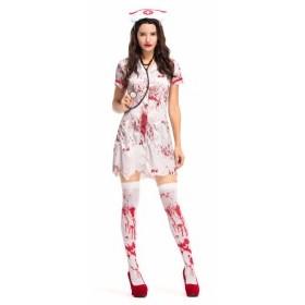 ナース コスチューム  ナース 看護婦 服 ハロウィン レディース 大人  鬼 ナース イベント 衣装 血まみれ
