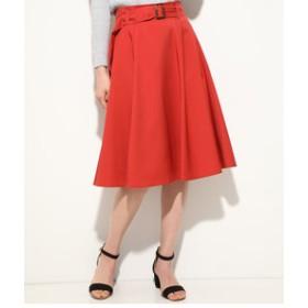 【ViS:スカート】ベルト付きサーキュラースカート