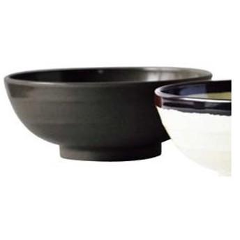 メラミン エコそば丼 黒(M−109)