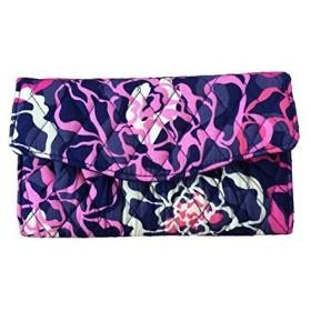 ヴェラブラッドリーVera Bradley Strap Wallet (Katalina Pink with Navy Interior)