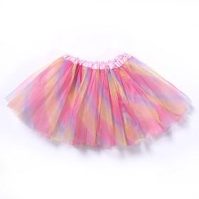 eipatu チュチュスカート レディース パニエ ダンス衣装 スカート チュールスカート 文化祭/パーティー/結婚式など (レインボー)