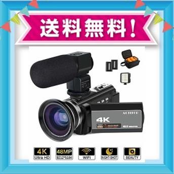 ビデオカメラ ACTITOP デジタルビデオカメラ 4K HDR 48MP WIFI機能 16倍デジタルズーム IR夜視機能 予備バッテリーあり 3.0インチタ