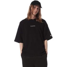(コンバース) CONVERSE 綿100% ロゴ刺繍 バックプリント オーバーサイズ 半袖 Tシャツ B/M