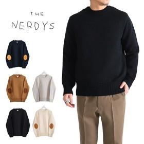 [TIME SALE 30%OFF 1/20(月) 12:59まで] THE NERDYS ナーディーズ エルボーパッチ クルーネック ニットセーター TND-K01 メンズ
