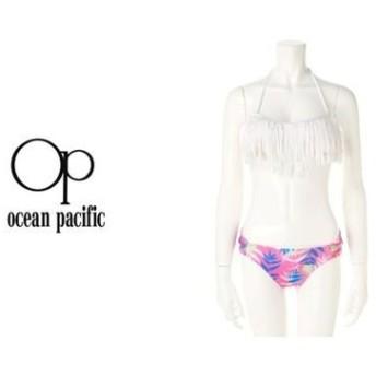 【51%OFF/Ocean Pacific】ボーダー×パルムツリー柄をミックスした、OPレディースホルタ-ネックビキニ。プールでも海でも大活躍する一着《レディス スイムスーツ /527805》 レディースウェア その他レディースウェア - 選択してください - 9 11 au WALLET Market