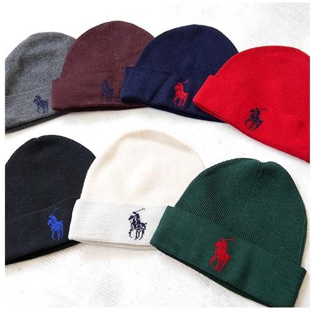 ラルフローレン ビッグポニー ニットキャップ POLO Ralph Lauren 6F0066 ニット帽 ビーニー 帽子 無地 カラー メンズ レディース