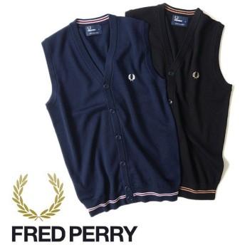 Fred Perry フレッドペリー ニットベスト K9519 ウール メンズ