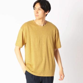 (コムサ イズム) COMME CA ISM リネンクルーネックTシャツ 47-60TL29-109 L マスタード